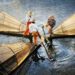 03-David-Lazar-Three-Fishermen-on-Inle-Lake